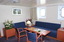 Internationale Frachtschiffreisen Pfeiffer - Von Seegang und Landgang - Kabine