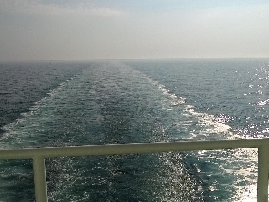 Internationale Frachtschiffreisen Pfeiffer - Von Seegang und Landgang - Reling
