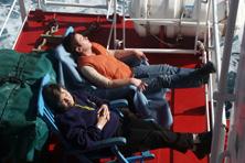 Internationale Frachtschiffreisen Pfeiffer - Von Seegang und Landgang - Sonnenstühle