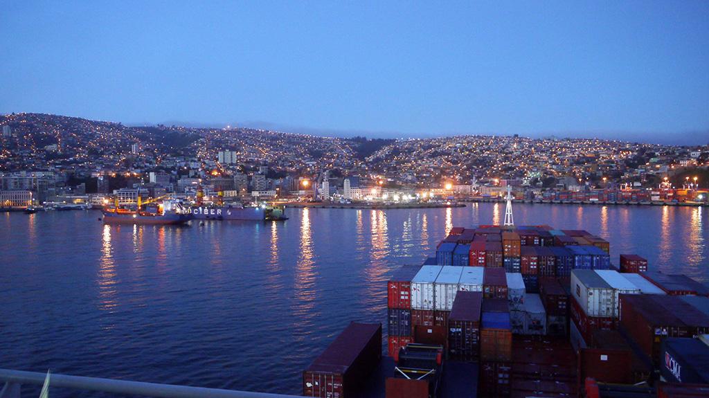 Internationale Frachtschiffreisen Pfeiffer - Von Seegang und Landgang - Valparaiso