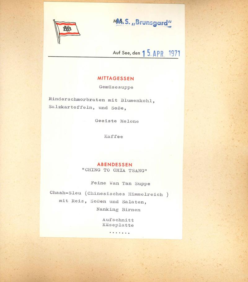 Internationale Frachtschiffreisen Pfeiffer - Reisehistorie - Reise 04.1979 - Bild 3
